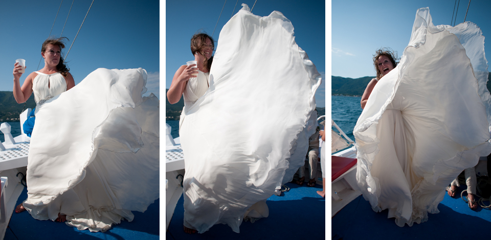 Wedding Photography on a boat!