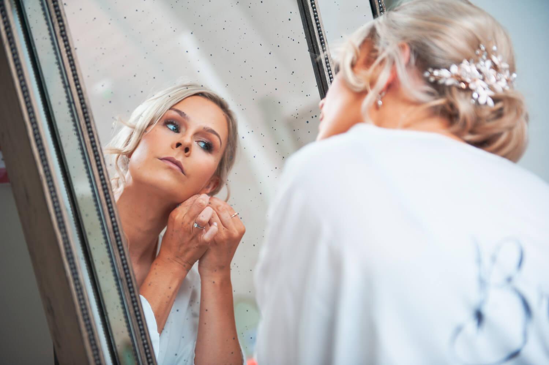 Bride looking in minor