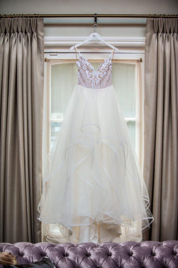 Wedding dress on hangar