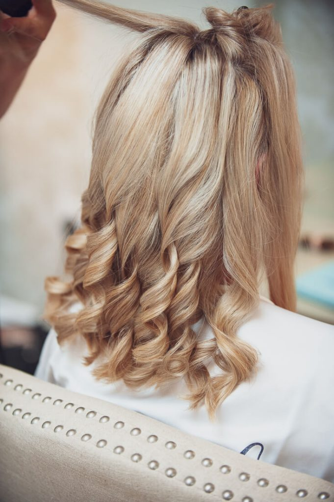 Back of brides hair
